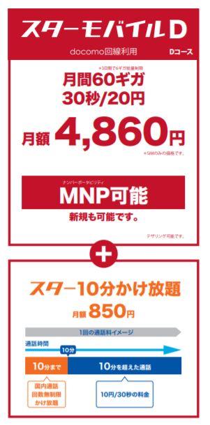 Dコース - スマホ月額60GB 4,860円 えっ!本当!?